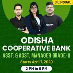 Odisha Cooperative Bank Assistant & Assistant Manager Grade II Prelims | Bilingual | Live Classes