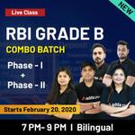 RBI GRADE B COMBO BATCH Phase I Plus Phase II Bilingual Live Classes