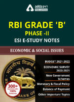 E-Study Notes of Economic & Social Issues for RBI Grade B Phase-II 2021 (English Medium eBook)