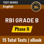 RBI Grade B Phase -II 2021: Online Test Series