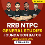 RRB NTPC General Studies Foundation Batch | Bilingual | Live Class