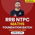 RRB NTPC Maths Foundation Batch | Bilingual | Live Class