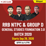 Live Online Classes of General Studies for RRB NTPC and Group D 2020 | Complete Bilingual Foundation Batch 3.0