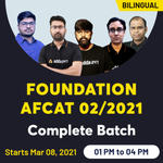 FOUNDATION AFCAT 02/2021 Complete Batch | Bilingual Live Class by Adda247