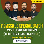 CIVIL ENGINEERING SPECIAL BATCH for RSMSSB - JE  ( Tech + RAJASTHAN GK )  Bilingual | Live Classes