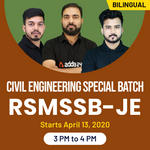 CIVIL ENGINEERING SPECIAL BATCH for RSMSSB - JE and RAJASTHAN - JE Bilingual | Live Classes