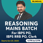 Reasoning Live Classes for IBPS PO, IBPS RRB PO, Clerk | Mains Batch | Bilingual