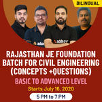Rajasthan JE Foundation batch for civil Engineering (Concepts + Questions) Basic to advanced level | Bilingual | Live Class