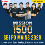 Mission 1500 SBI PO Mains 2020 | Complete Preparation Batch | Bilingual | Live Class | Test Series | Ebooks | Interview