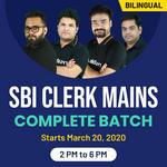 SBI CLERK MAINS 2020    Bilingual    Live Classes