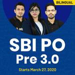SBI PO PRE 3.0   SBI PO 2020   Bilingual   Live Classes