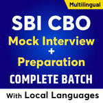 SBI CBO Interview Complete Batch: With LOCAL LANGUAGES | Live Classes