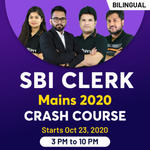 SBI Clerk Mains 2020 Batch   Bilingual   Live Class