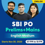 SBI PO PRELIMS AND MAINS ONLINE COACHING | ENGLISH LIVE CLASS