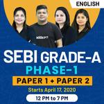 SEBI-GRADE A-Phase 1-Paper 1 + Paper 2 ( General)  English Medium Live Classes