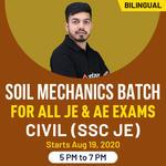 """ SOIL Mechanics  batch for all JE & AE Exams "" Civil (SSC JE) | Bilingual | Live Class"