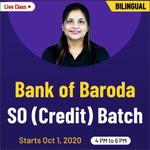 Bank of Baroda SO (Credit) Online Coaching | Bilingual Batch