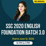 SSC 2020 English Foundation Batch 3.O | Bilingual | Live Classes