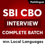 SBI CBO Interview Complete Batch: With LOCAL LANGUAGES   Live Classes