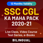 SSC CGL MAHA Pack (Live Classes | Video Course | Test Series | Ebooks) Validity: 12 Months