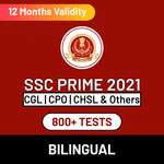 SSC Exam Online Test Series Prime for SSC CGL, SSC CPO, SSC CHSL & Others 2021