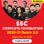 SSC ONLINE COACHING 2020-2021| Complete Foundation Batch 2.0 | BILINGUAL LIVE CLASS
