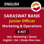 Saraswat Bank Junior Officer (Marketing and Operations) E-Kit 2021 (English Medium)