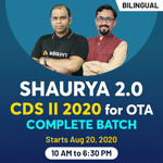 CDS 2 2020 Live Online Classes for OTA Exam - Complete Bilingual Shaurya 2.0