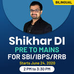 Shikhar DI Pre to Mains for SBI/IBPS/RRB | Bilingual | Live Class