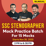 SSC STENOGRAPHER ONLINE COACHING CLASS 2020 | 15 Practice Mock Tests Included | Bilingual