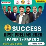UPSC PRELIMS 2020 Batch | Bilingual | Live Classes