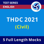 THDC INDIA LIMITED (Civil) 2021 Test Series