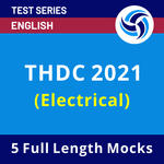 THDC INDIA LIMITED (Electrical) 2021 Test Series