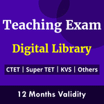 Teachers' Exam Digital Library eBooks for CTET, Super TET, UGC NET, REET, UP TET, UTET , KVS, DSSSB, APS and Others 2021