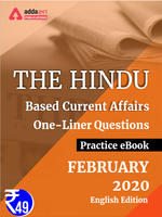 February 2020 Edition of The Hindu Newspaper Based One-Liners eBook English Medium