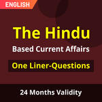 The Hindu Newspaper Based Current Affairs One-Liners English Medium eBooks (Validity 12 Months)