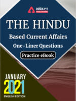 The Hindu Newspaper Based Current Affairs One-Liners January 2021 E-books Practice Questions paper