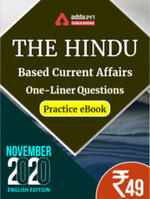 November 2020 Edition of The Hindu Newspaper Based One-Liners eBook (English Medium)