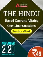 November 2020 Edition of The Hindu Newspaper Based One-Liners eBook (English Medium)