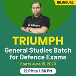 Triumph General Studies Batch for Defence Exams  I Bilingual I Live Classes