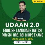 UDAAN 2.0 | ENGLISH LANGUAGE BATCH | BILINGUAL | LIVE CLASS