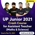 UP Junior 2021 - Crash Course for Maths & Science Assistant Teacher   Online Live Classes By Adda247