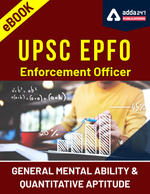 EPFO Enforcement Officer General Mental Ability & Quantitative Aptitude eBook English Medium