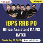 IBPS RRB PO Office Assistant Batch 2020 | BIlingual Live Classes