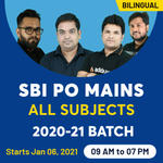 SBI PO Mains live Online Classes Combo Batch for 2020-2021 | Bilingual Classes by Adda247