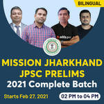 MISSION JHARKHAND JPSC Prelims 2021 | Complete Bilingual Live classes Batch by Adda247