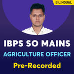 IBPS SO AGRICULTURE Officer Online coaching | Bilingual Pre recorded Videos
