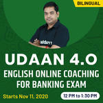 UDAAN 4.0 - ENGLISH ONLINE COACHING FOR BANKING EXAM | Bilingual Live class