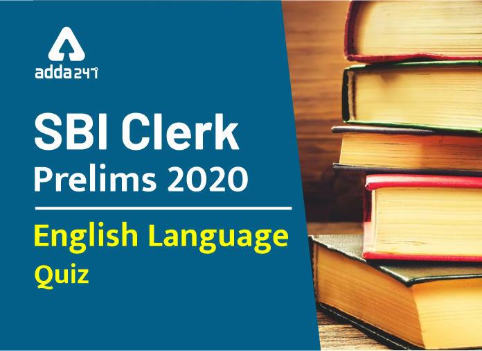SBI Clerk Prelims English Daily Mock 5th February 2020 Word Swap Based Practice Set_40.1