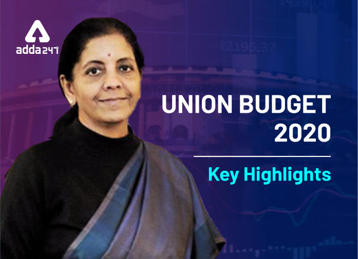 Union Budget 2020-21 Key Highlights_40.1
